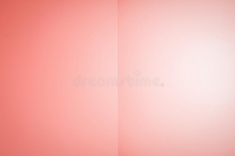 Trendy coral color. Abstracts gradient background like an open book or notebook royalty free illustration