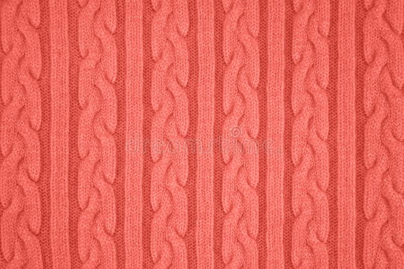 coral colored Knitwear Fabric Texture stock image