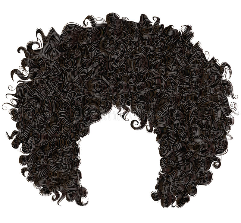 Trendy curly african black hair . fashion beauty style . royalty free stock images