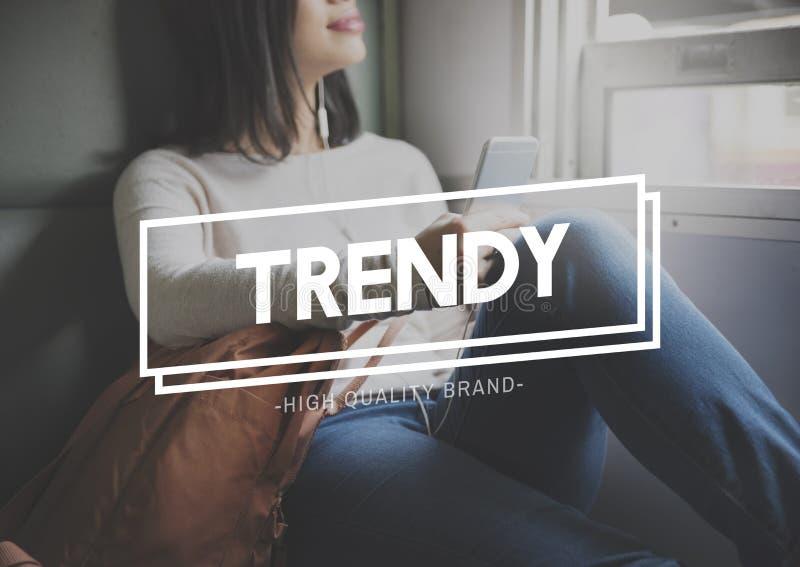 Trendy Design Fashion Modern Style Marketing Concept stock photography