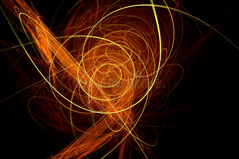 Trendy design with orange and yellow light waves royalty free illustration