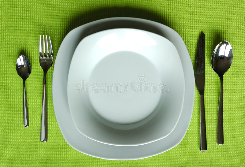 Trendy eating set stock photo