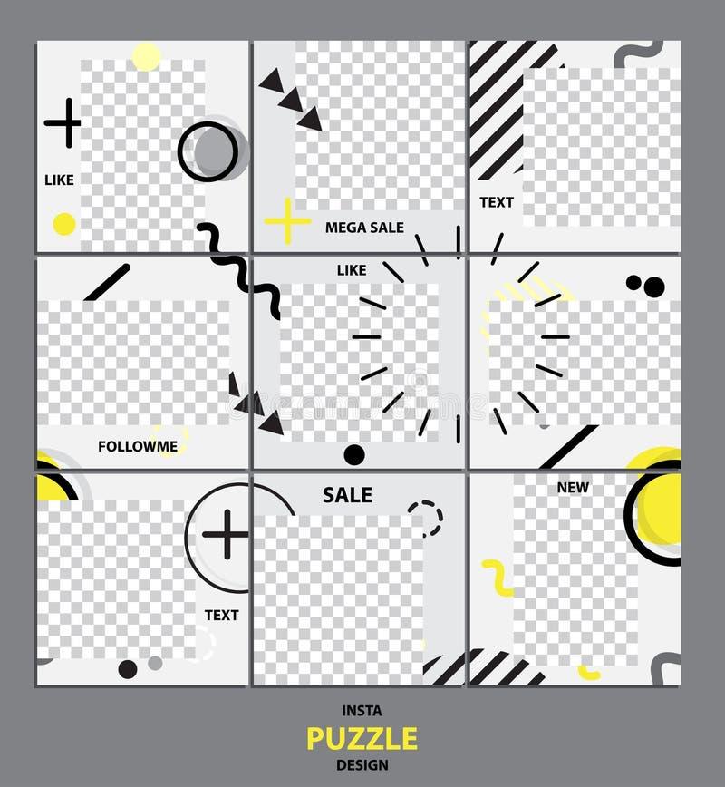 Trendy editable template for social network message, vector illustration. Design backgrounds for social media stock illustration