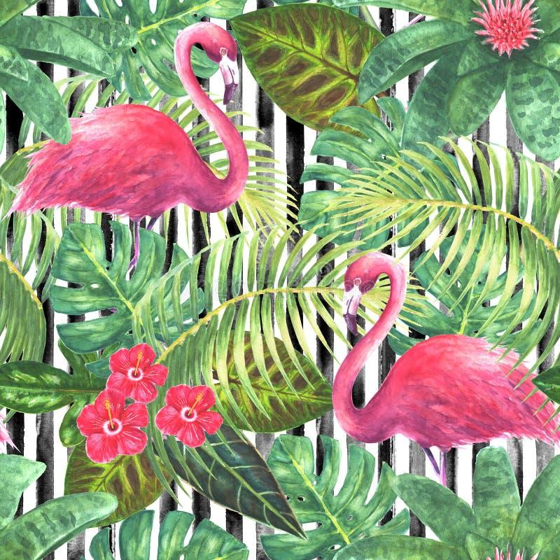Trendy exotic seamless pattern vector illustration