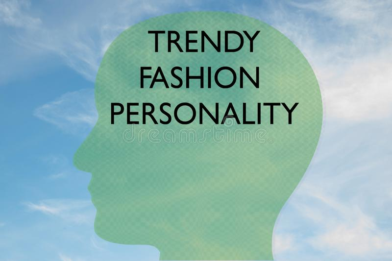TRENDY FASHION PERSONALIALITY-koncept royaltyfri illustrationer