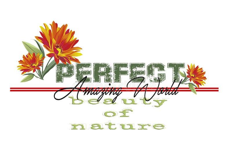 Trendy fashion T-shirt print for textile Perfect amazing world design. Pattern royalty free illustration