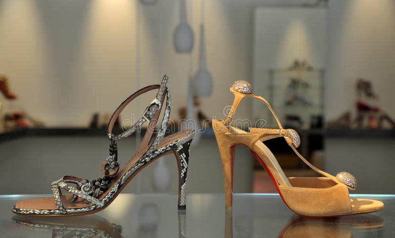 Download Trendy female sandals stock photo. Image of desire, close - 13279006