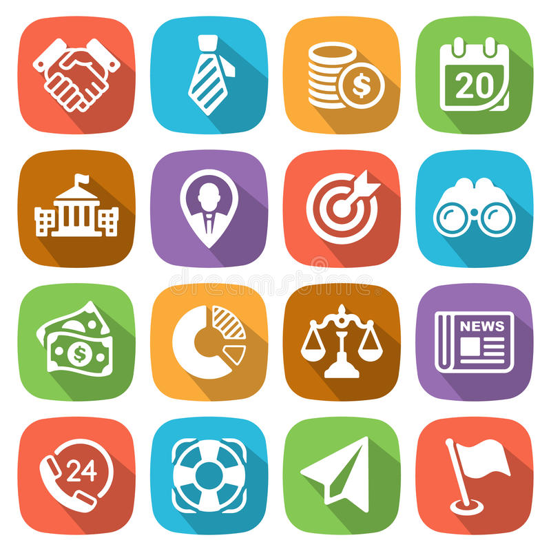 Free Trendy Flat Business And Finance Icon Set 2 Vector Royalty Free Stock Photo - 46788135