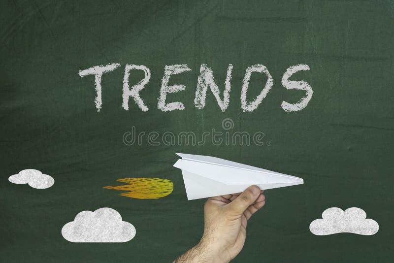 Trendy formułują na chalkboard zdjęcia royalty free