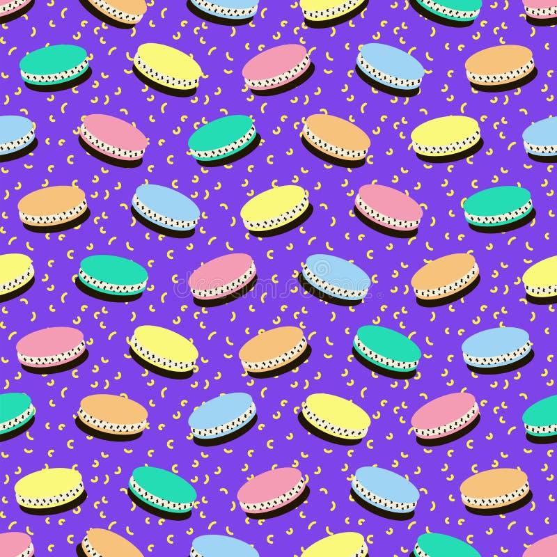 Trendy geometric elements memphis cards. Retro style texture, pattern. vector illustration