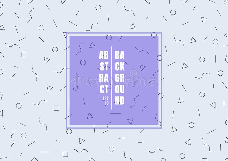 Trendy geometric pattern flat thin line style on light blue background. You can use for banner web, poster and placard design. Vector illustration stock illustration
