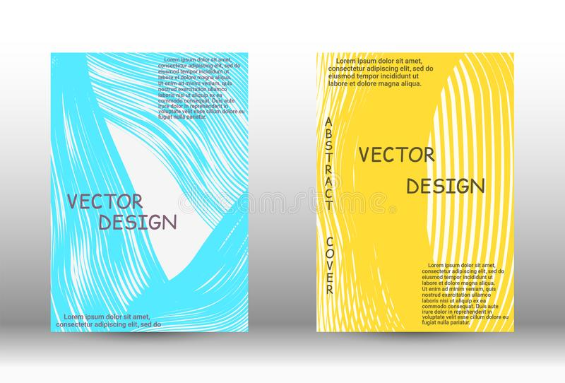 Trendy geometric patterns. Minimal vector coverage. Abstract cover with the effect of movement and distortion. Trendy geometric patterns. EPS10 Vector Design vector illustration
