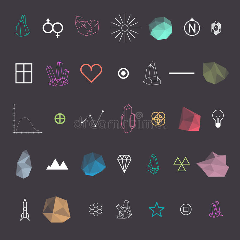 Trendy Geometric Shapes Collection vector illustration