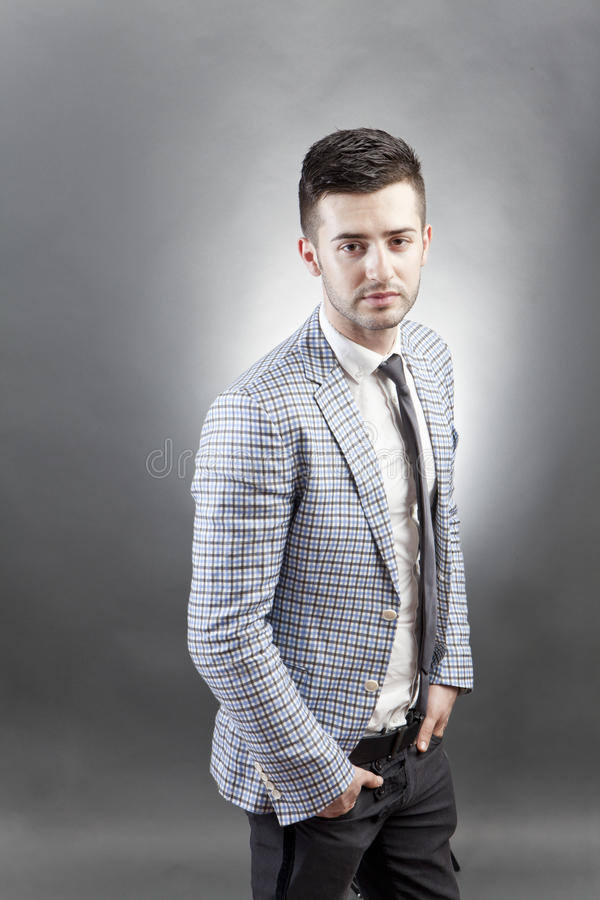 Download Trendy guy stock image. Image of jacket, casual, urban - 25473047