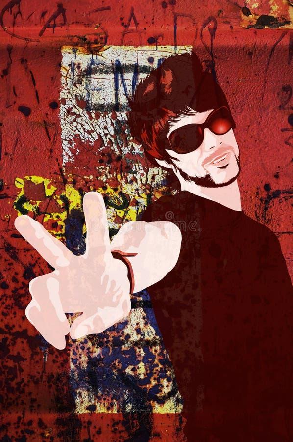 Trendy guy illustration stock photo
