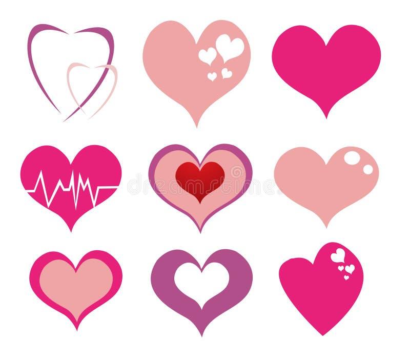 Trendy Hearts stock illustration