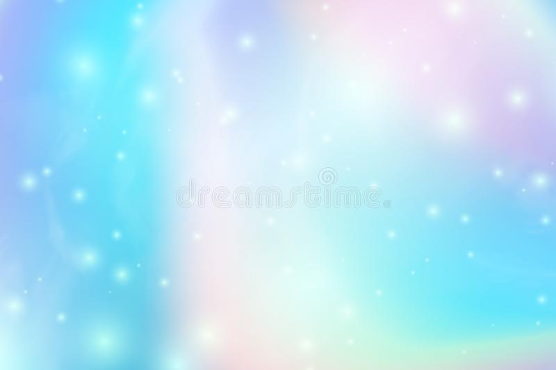 Trendy Holographic abstract background with gradient mesh. Iridescent texture. Vector illustration for your creative royalty free illustration