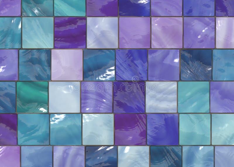 Trendy Interior Design Tiles royalty free illustration