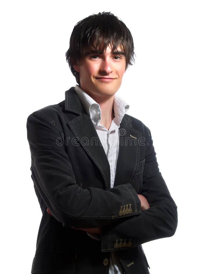 Trendy jonge mens royalty-vrije stock foto