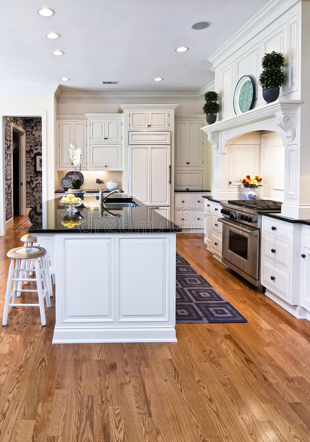 Download Trendy kitchen stock image. Image of cabinet, inside - 15760123
