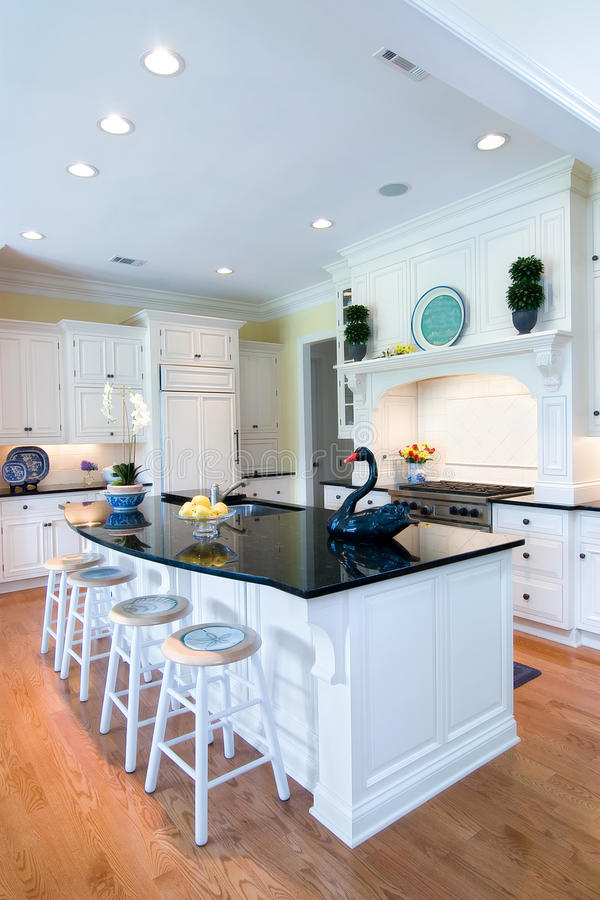 Trendy kitchen royalty free stock photography