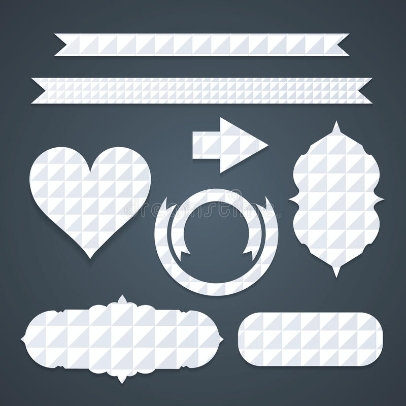 Trendy labels and ribbons vector illustration