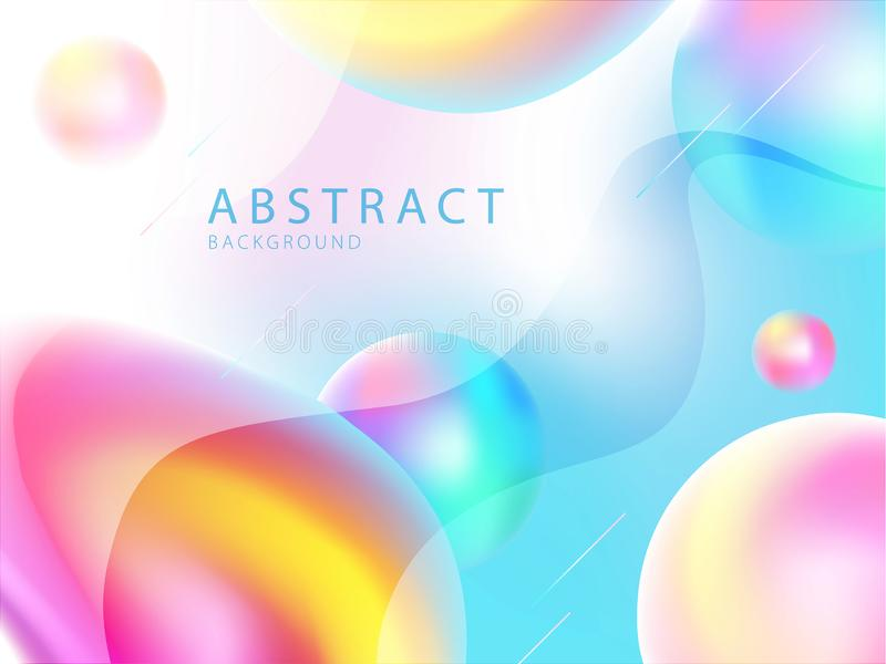 Trendy Liquid gradient color background vector illustration