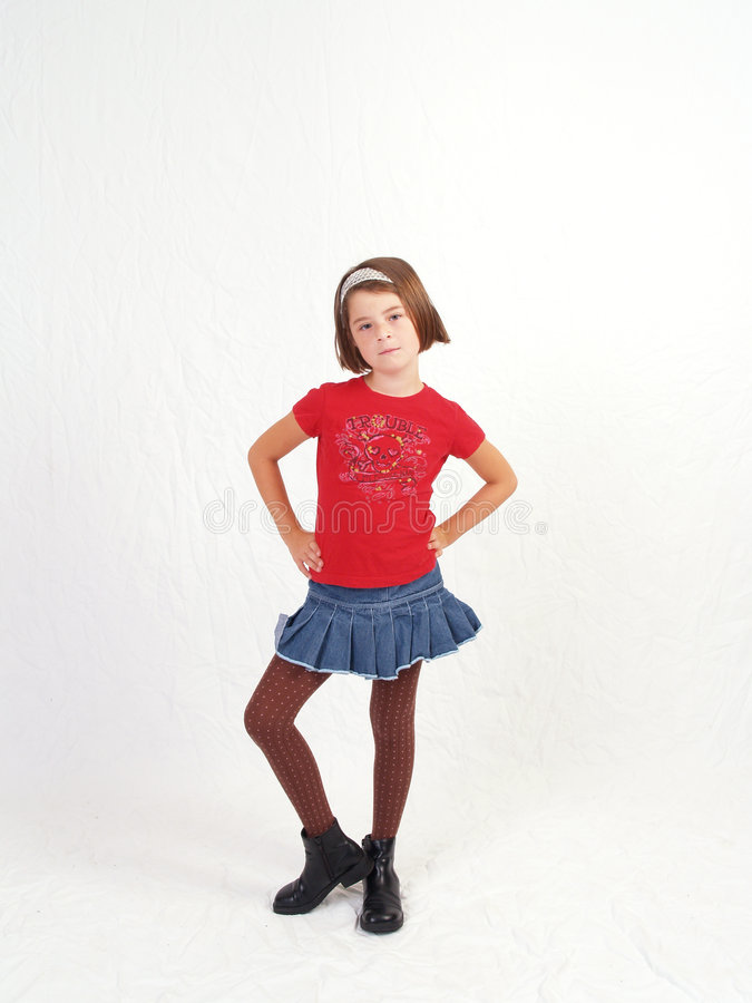 Young Girl Full Lenght royalty free stock images