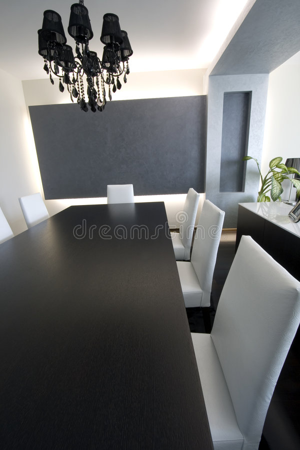 Download Trendy Modern Dining Room Royalty Free Stock Photo - Image: 2469455