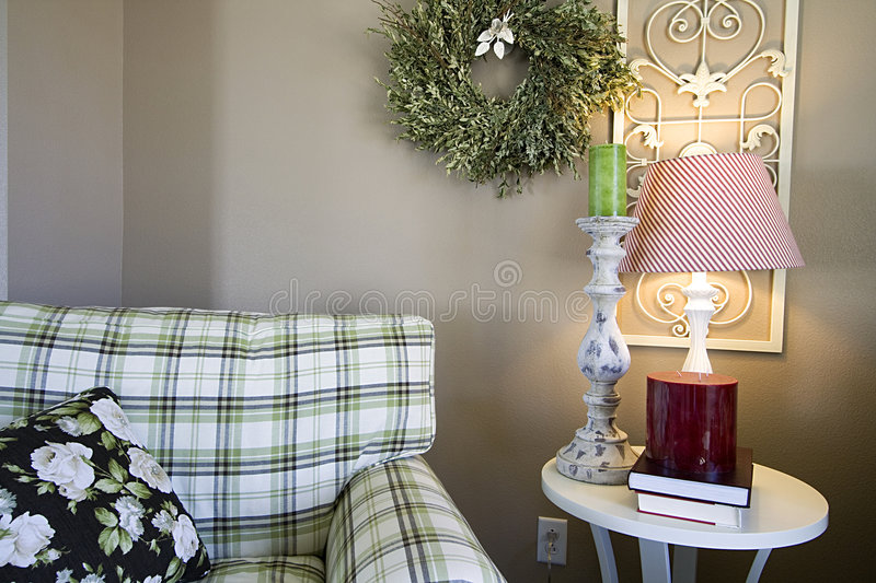 Trendy Modern Dining Room Stock Photography