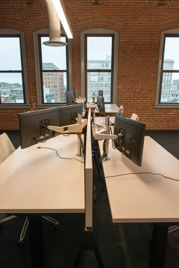 Download Trendy Modern Open Concept Loft Office Space With Big Windows, Natural  Light And A