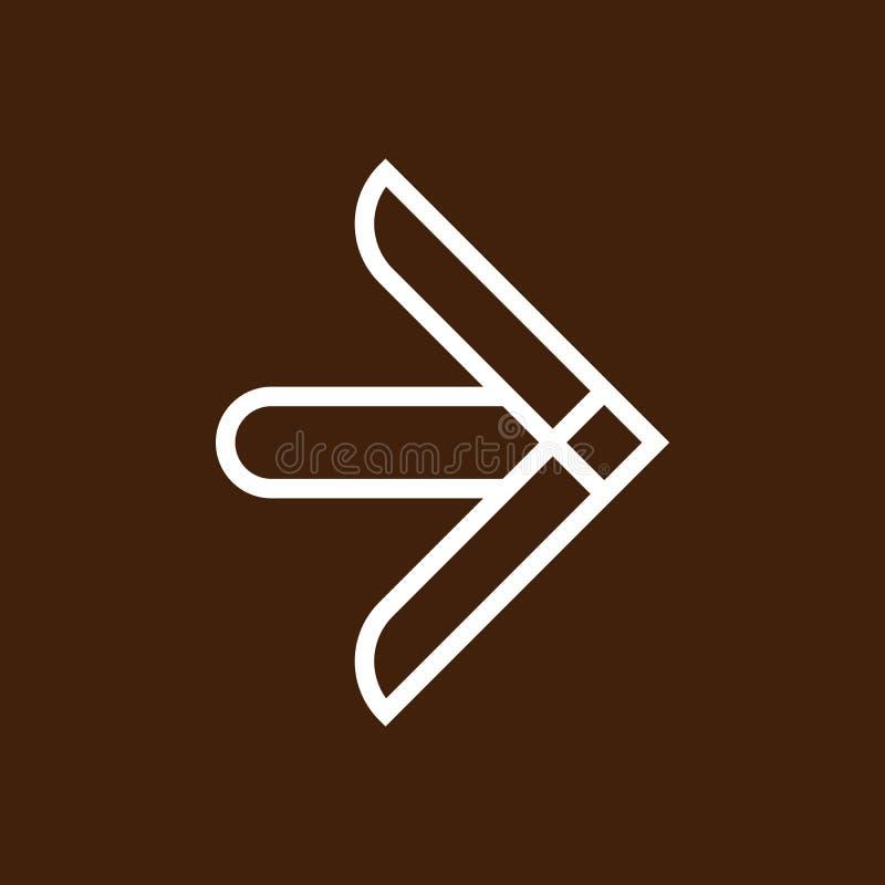 Trendy New creative Arrow icon or sign. Line art style Round edge arrows vector illustration. vector illustration