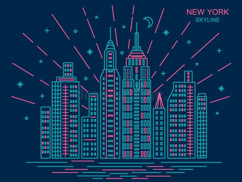 Trendy New York Skyline royalty free stock photo