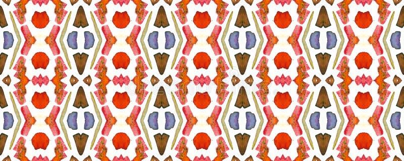 Geometric Seamless Pattern. Trendy Random Texture. Multicolor Watercolor Vibrant Design. Paintbrush Geo Background. Fun Bauhaus Geometric Pattern Fun Rectangle stock illustration