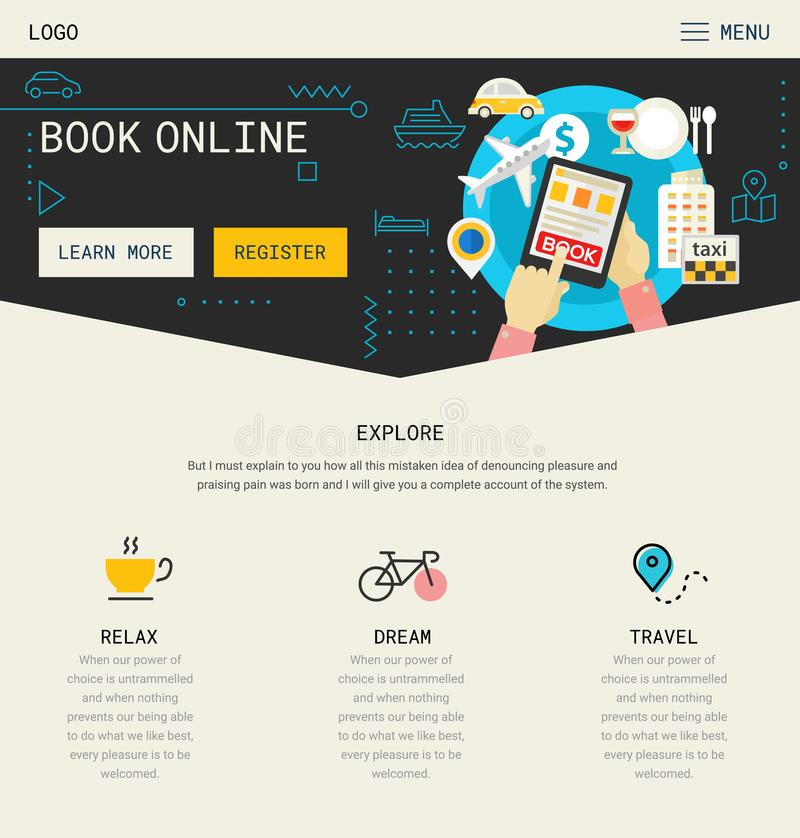 One Page Website Design stock illustration