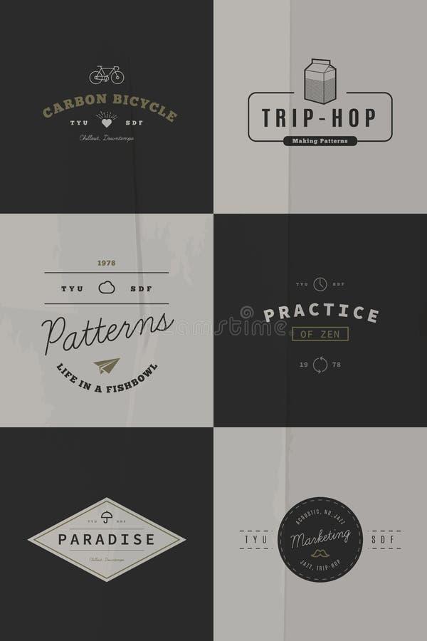 Trendy Retro Vintage Insignias vector illustration