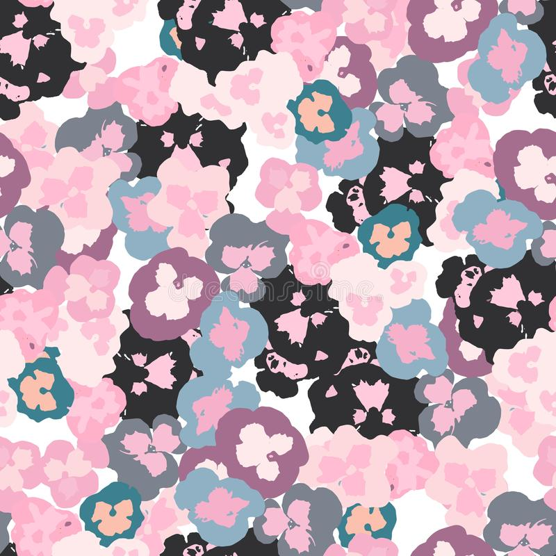 Trendy Seamless Floral Pattern in Vector.Seamless vector pattern for fabric and packaging royalty free illustration