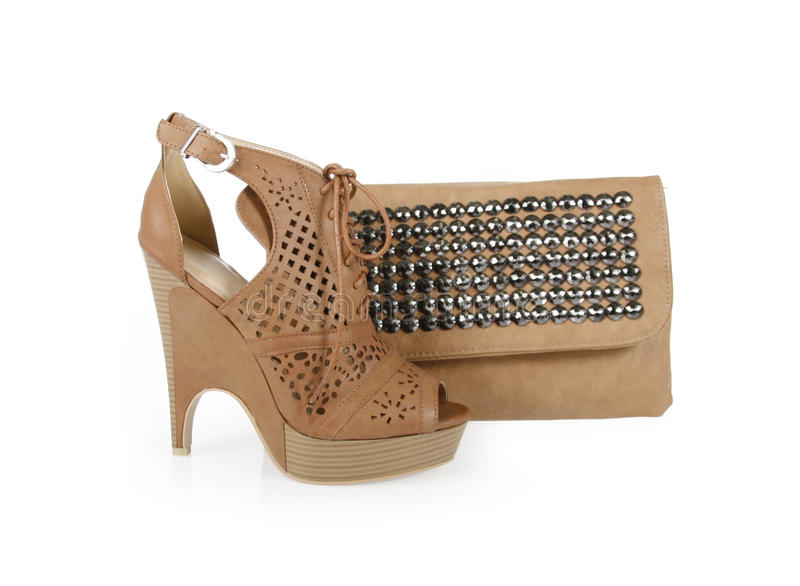 Download Trendy Shoes And Spiked Bag Stock Image - Image: 24047019