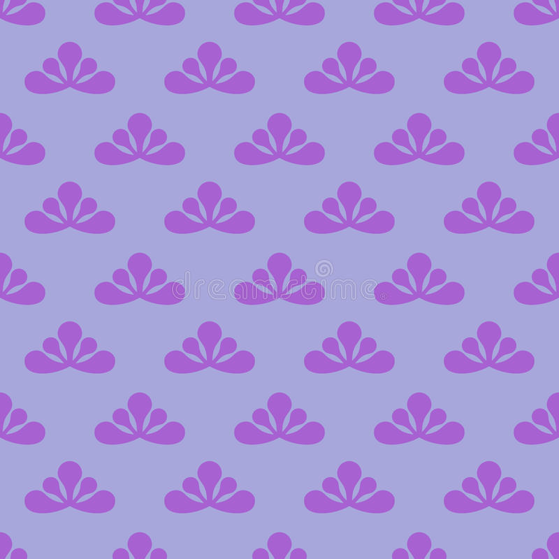 Trendy Simple Violet Leafy  Pattern Stock Image