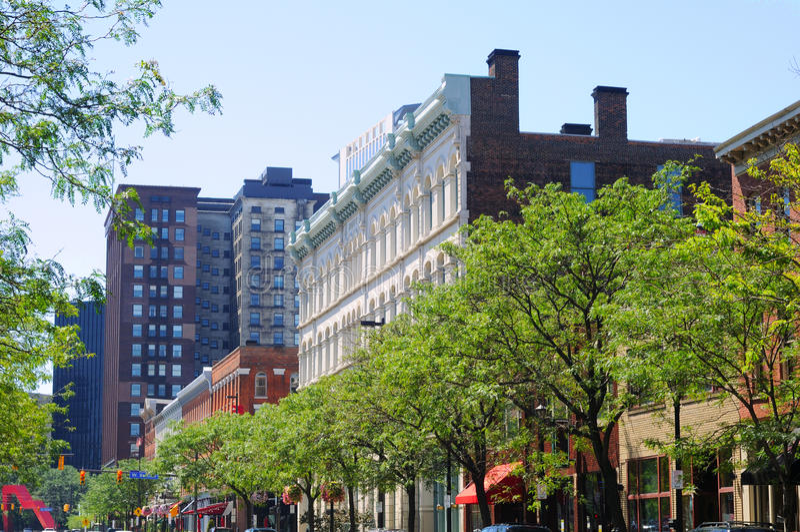 Trendy straat van Cleveland royalty-vrije stock fotografie
