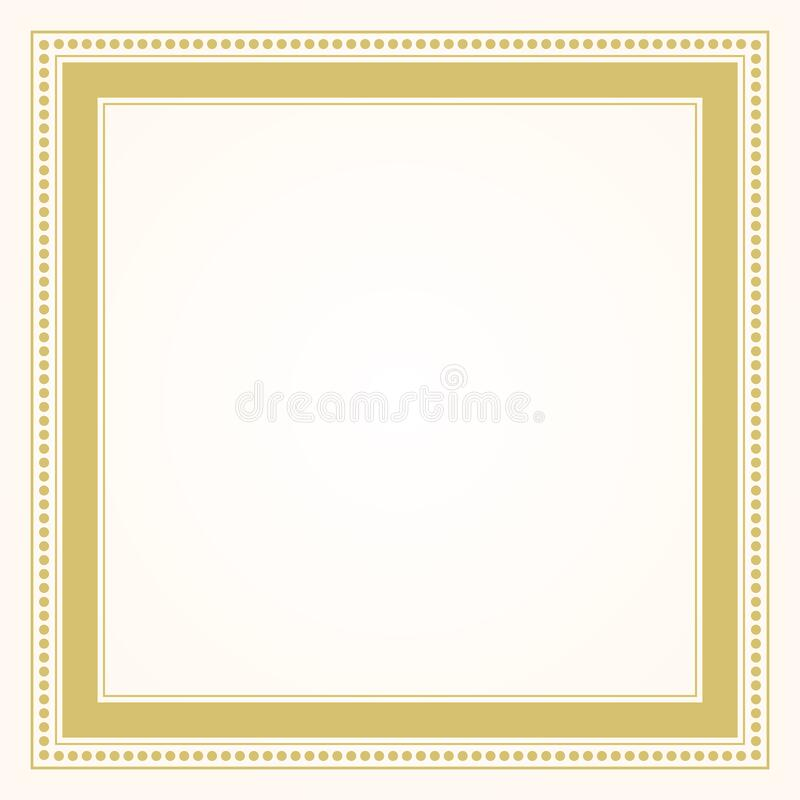 trendy and stylish simple formal golden square shape line