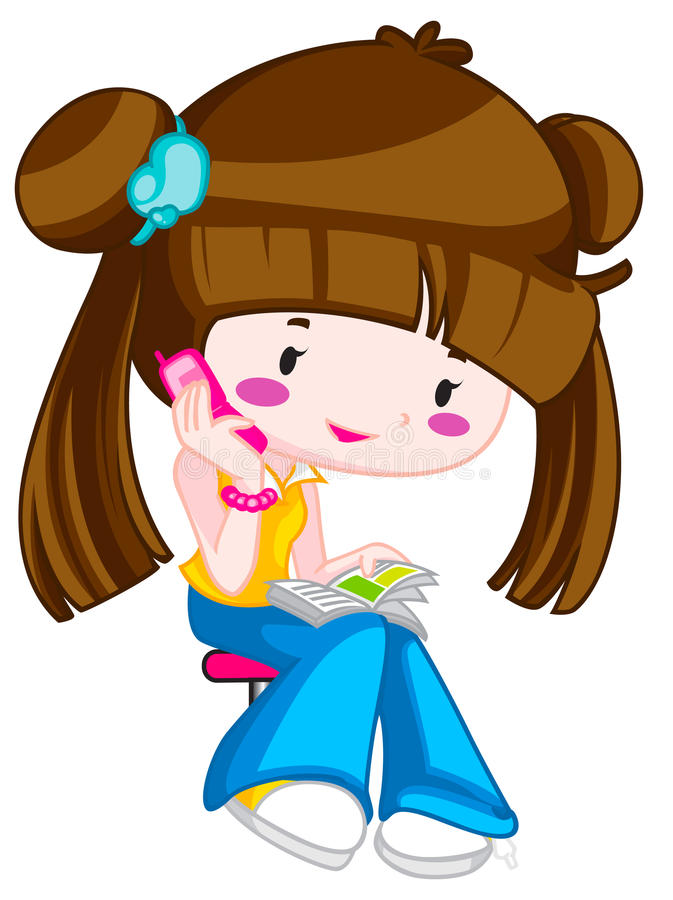 Download Trendy teen stock illustration. Image of happy, girl - 25223506