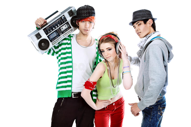 Trendy teenagers royalty free stock images