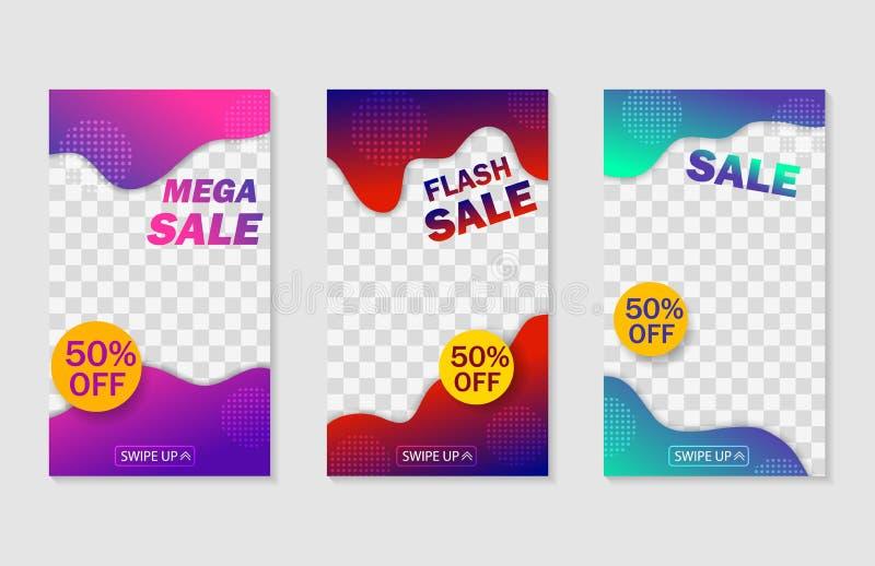 Trendy temtplate for social networks story.Social media stories cover.Sale, offer banner cover for mobile apps. vector royalty free illustration