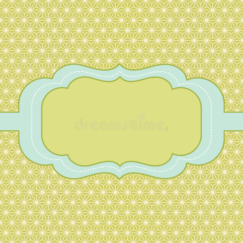 Trendy vintage styled badge royalty free illustration