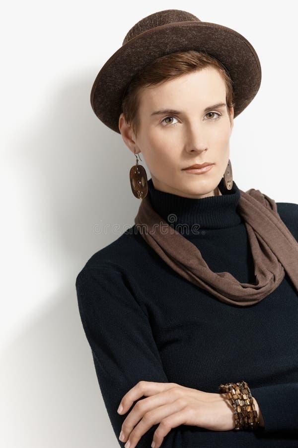 Trendy woman in hat