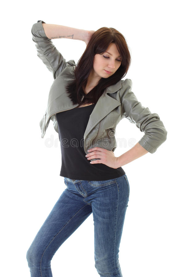 Trendy Woman Posing Stock Images