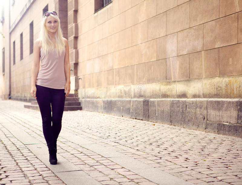 Download Trendy Young City Girl stock image. Image of lady, feminine - 21761465