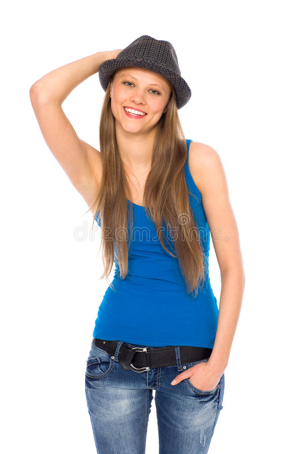 Download Trendy young woman stock photo. Image of happy, positive - 18911024