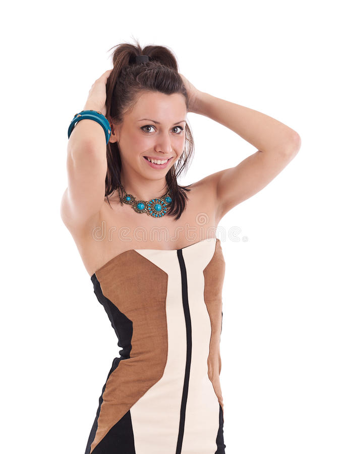 Trendy young woman royalty free stock image